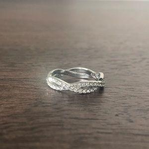 Swarovski size 5.0 double helix crystal ring
